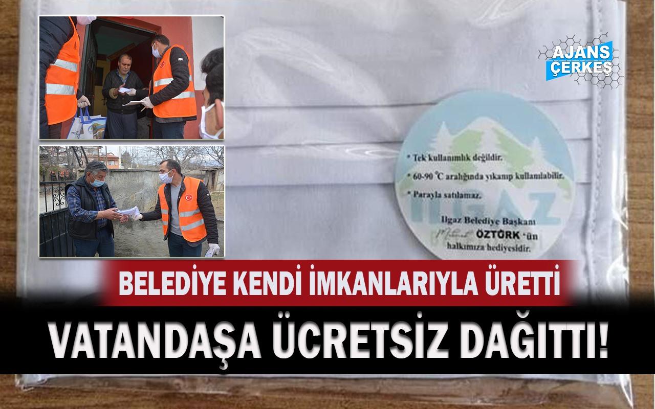 Ilgaz Belediyesi Vatandaşlara 20 Bin Maske Dağıttı